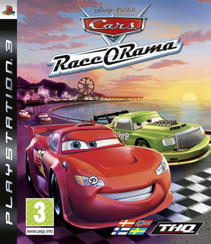 Cars Race-O-Rama Video Game Back Title by WonderClub