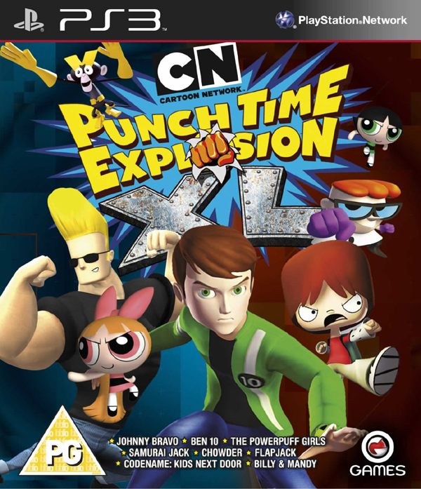 Cartoon Network: Punch Time Explosion Video Game Back Title by WonderClub