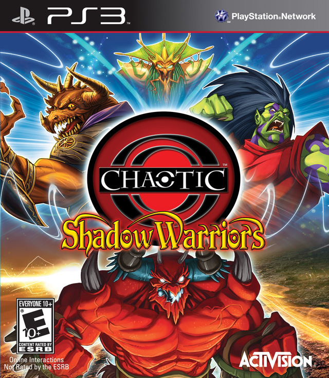 Chaotic: Shadow Warriors Video Game Back Title by WonderClub