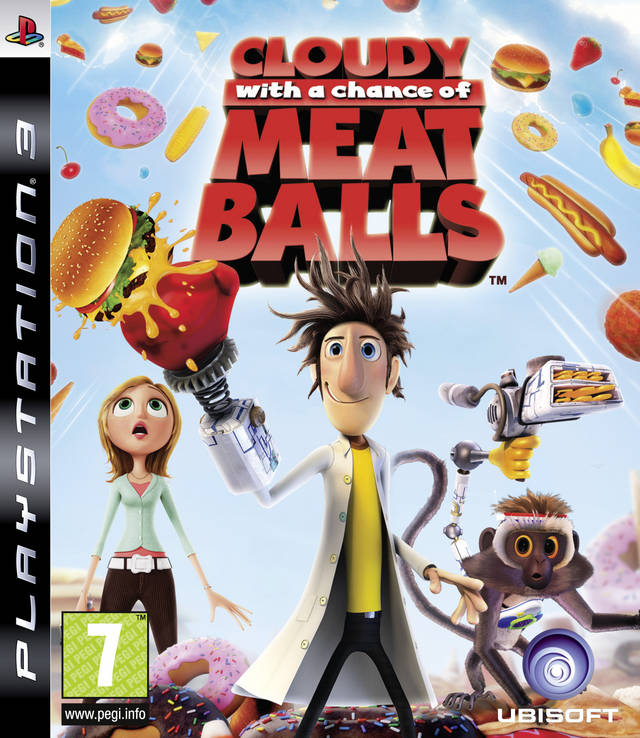 Cloudy With A Chance Of Meatballs Video Game Back Title by WonderClub
