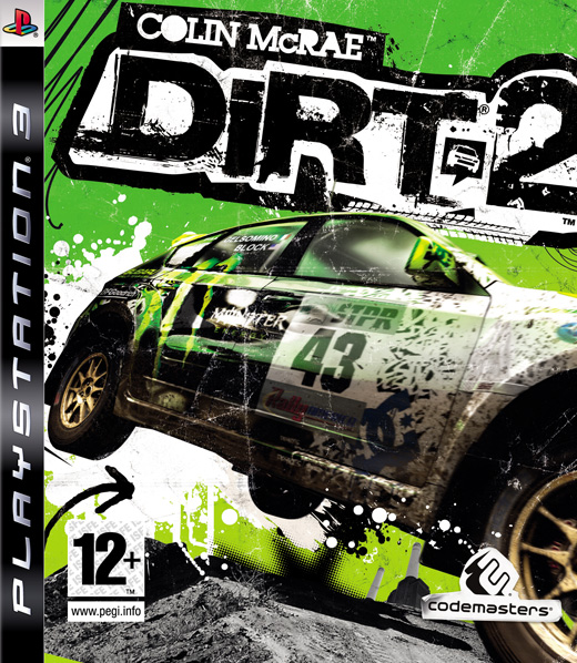 Colin McRae: Dirt 2 Video Game Back Title by WonderClub