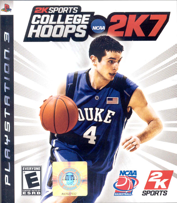 College Hoops 2K7 Video Game Back Title by WonderClub