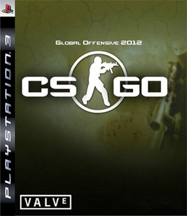 Counter-Strike: Global Offensive Video Game Back Title by WonderClub