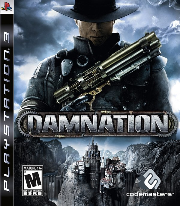 Damnation Video Game Back Title by WonderClub