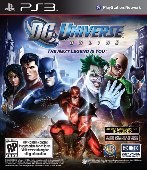 DC Universe Online Video Game Back Title by WonderClub