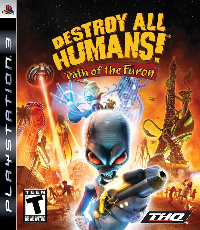 Destroy All Humans! Path Of The Furon Video Game Back Title by WonderClub
