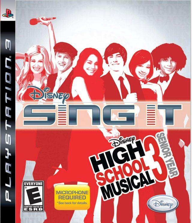 Disney Sing It! – High School Musical 3: Senior Year Video Game Back Title by WonderClub