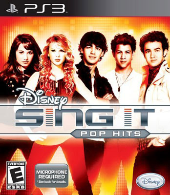 Disney Sing It: Pop Hits Video Game Back Title by WonderClub