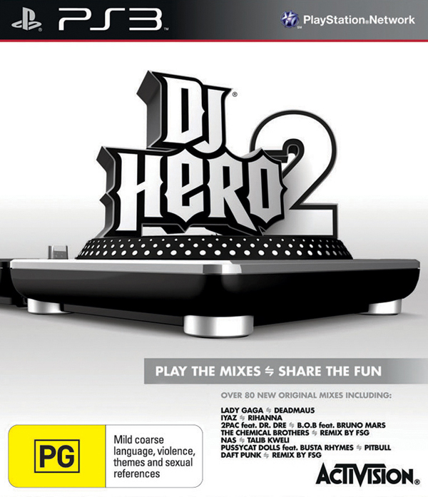 DJ Hero 2 Video Game Back Title by WonderClub