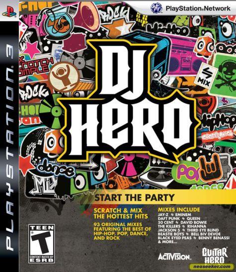 DJ Hero Video Game Back Title by WonderClub