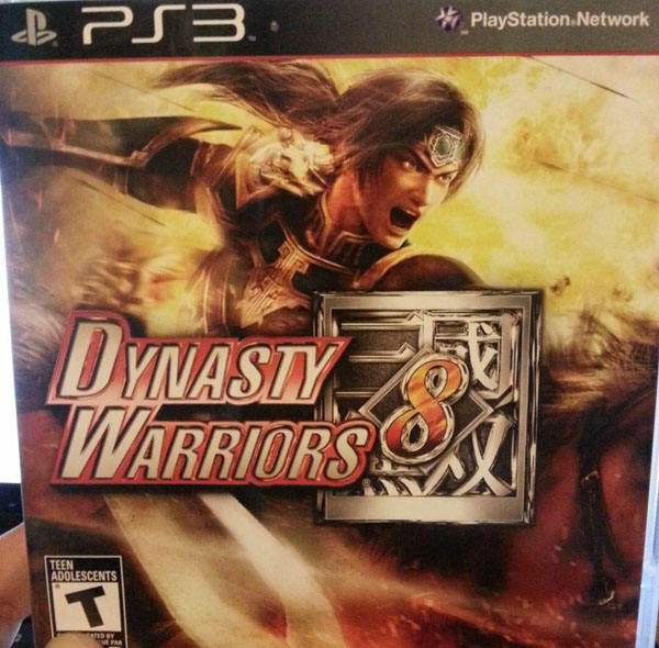Dynasty Warriors 8 Video Game Back Title by WonderClub