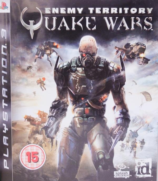 Enemy Territory: Quake Wars Video Game Back Title by WonderClub