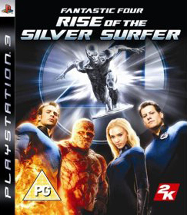 Fantastic Four: Rise Of The Silver Surfer  Video Game Back Title by WonderClub