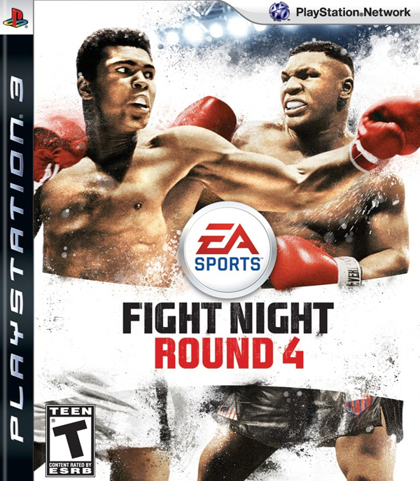 Fight Night Round 4 Video Game Back Title by WonderClub