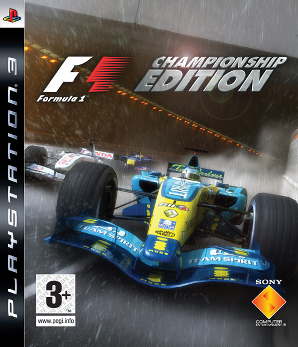 Formula One Championship Edition Video Game Back Title by WonderClub