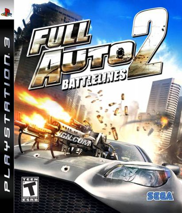 Full Auto 2: Battlelines Video Game Back Title by WonderClub