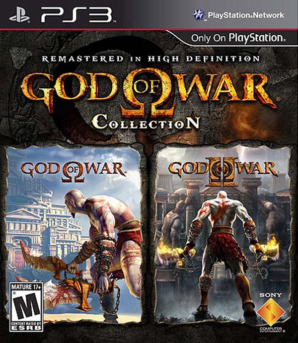 God Of War Video Game Collections Video Game Back Title by WonderClub