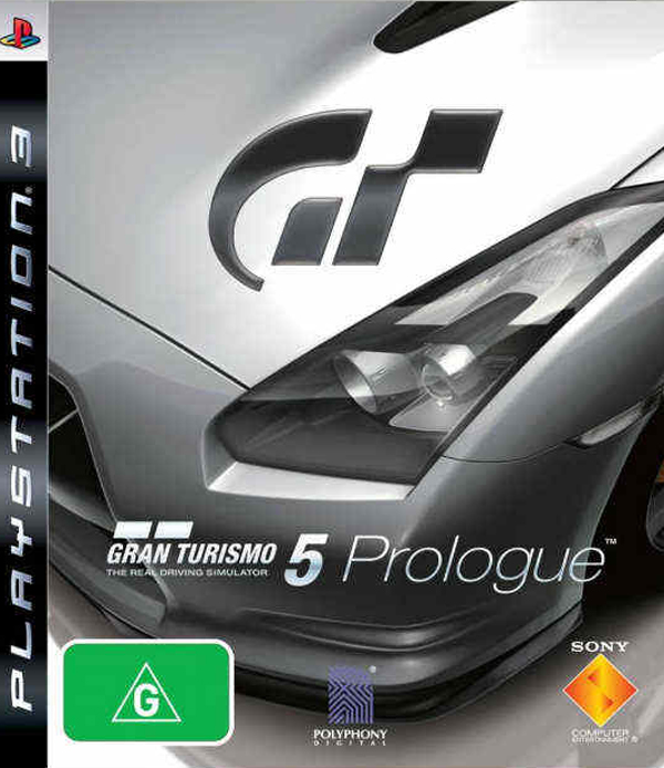 Gran Turismo 5 Prologue Video Game Back Title by WonderClub