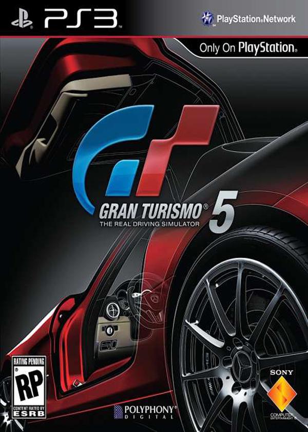 Gran Turismo 5 Video Game Back Title by WonderClub