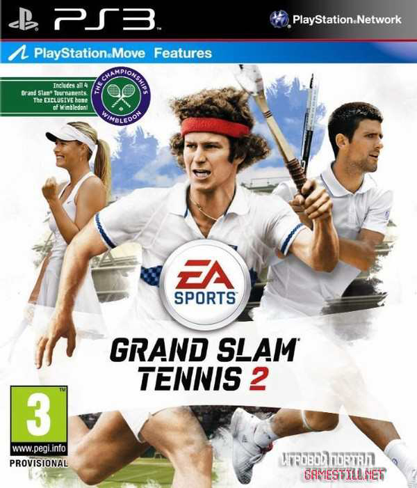 Grand Slam Tennis 2 Video Game Back Title by WonderClub