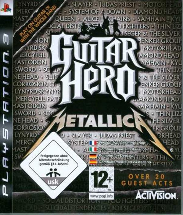 Guitar Hero: Metallica Video Game Back Title by WonderClub