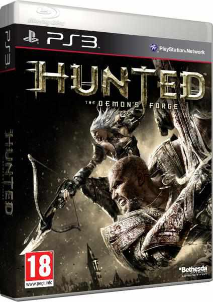 Hunted: The Demon's Forge Video Game Back Title by WonderClub