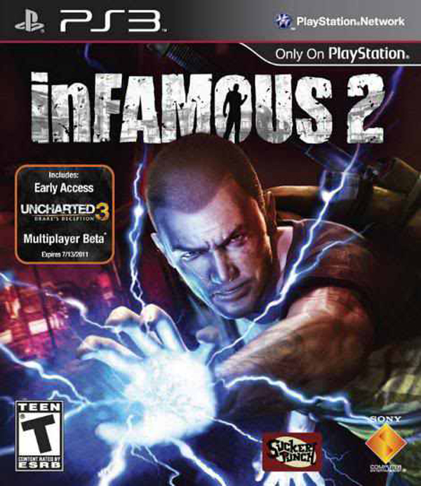 Infamous 2 Video Game Back Title by WonderClub