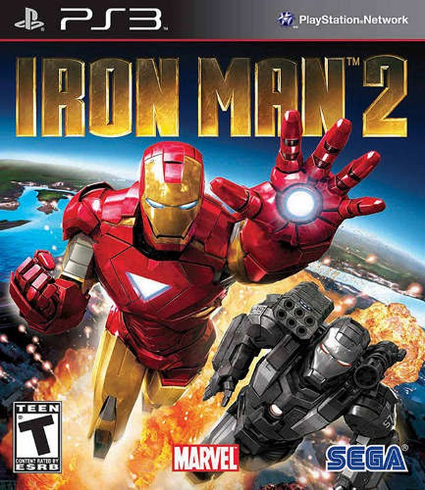 Iron Man 2 Video Game Back Title by WonderClub