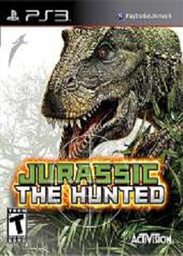 Jurassic: The Hunted Video Game Back Title by WonderClub