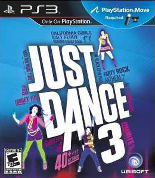 Just Dance 3 Video Game Back Title by WonderClub