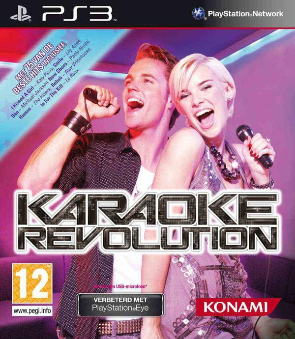 Karaoke Revolution Video Game Back Title by WonderClub