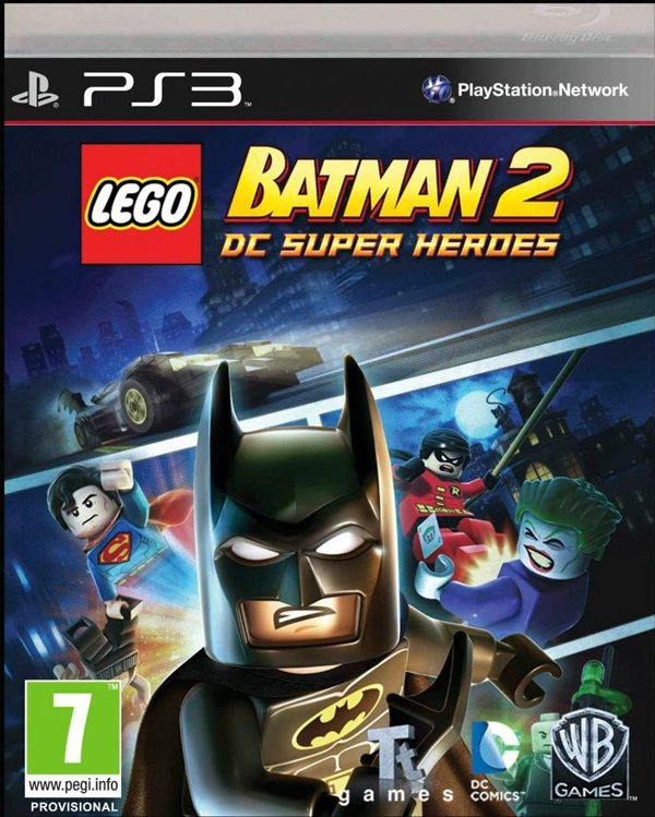 Lego Batman 2: DC Super Heroes Video Game Back Title by WonderClub