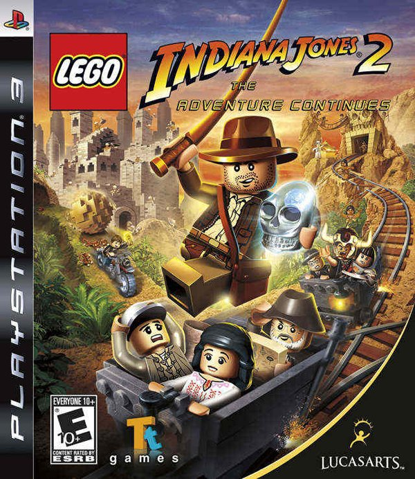 Lego Indiana Jones 2: The Adventure Continues Video Game Back Title by WonderClub