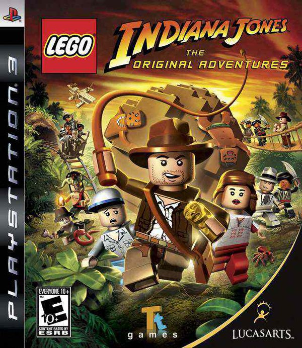 Lego Indiana Jones: The Original Adventures Video Game Back Title by WonderClub