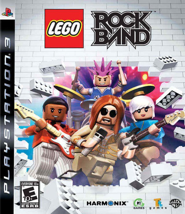 Lego Rock Band Video Game Back Title by WonderClub