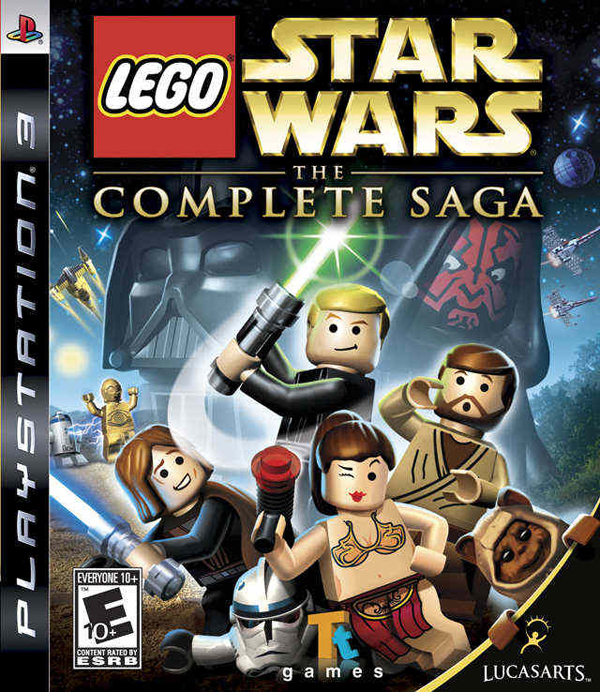 Lego Star Wars: The Complete Saga Video Game Back Title by WonderClub