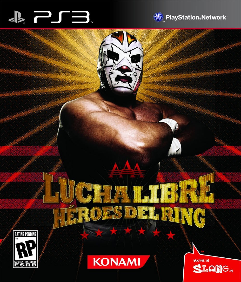 Lucha Libre AAA: Héroes Del Ring Video Game Back Title by WonderClub
