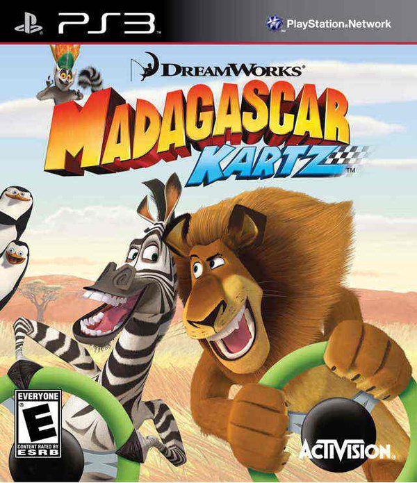 Madagascar Kartz Video Game Back Title by WonderClub