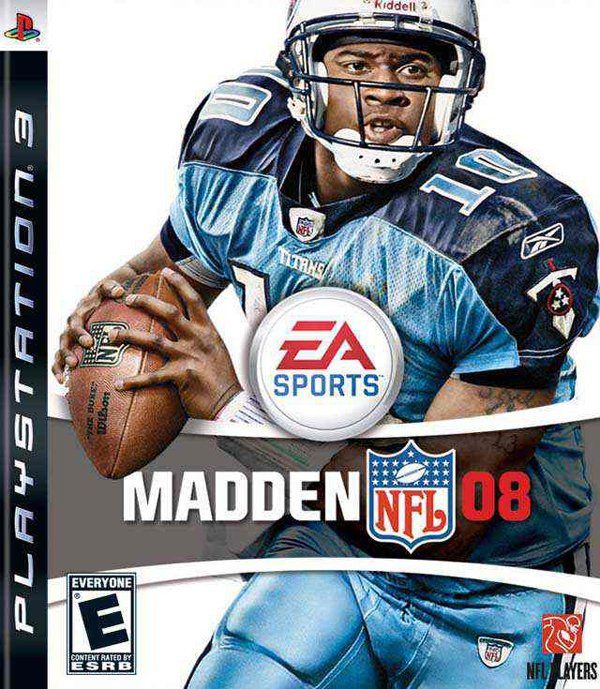 Madden NFL 08 Video Game Back Title by WonderClub