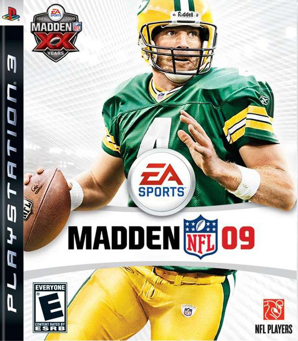 Madden NFL 09 Video Game Back Title by WonderClub