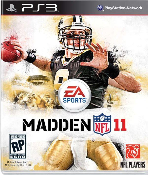 Madden NFL 11 Video Game Back Title by WonderClub