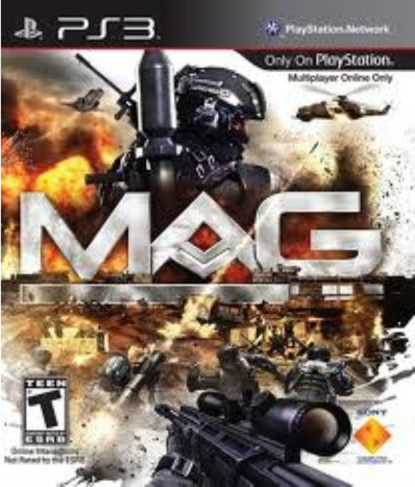 MAG (video Game) Video Game Back Title by WonderClub