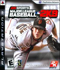 Major League Baseball 2K9 Video Game Back Title by WonderClub