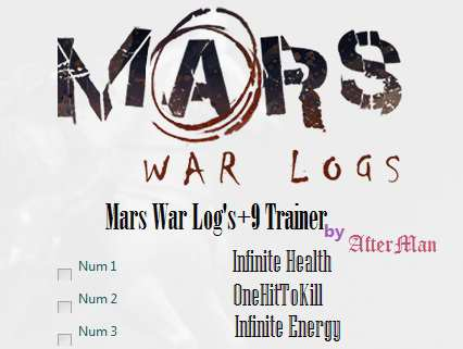 Mars: War Logs Video Game Back Title by WonderClub