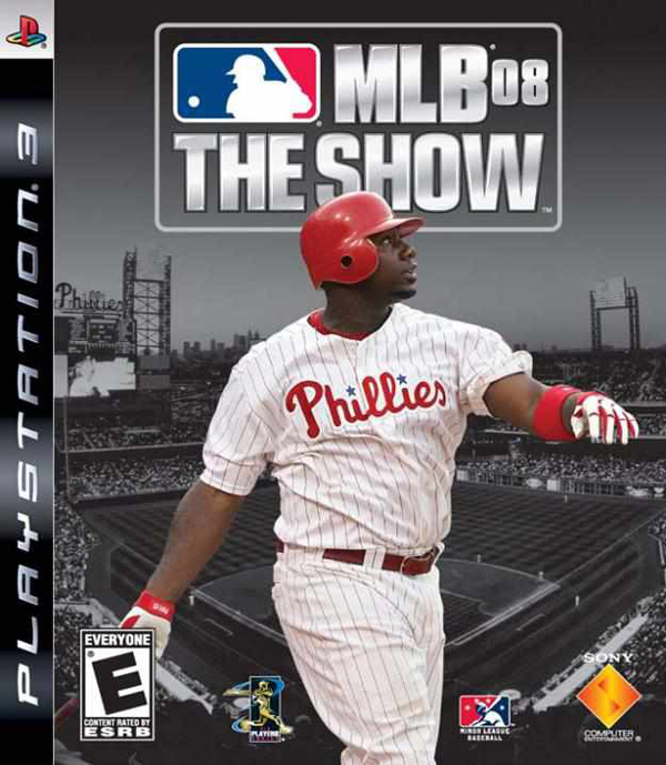 MLB 08: The Show Video Game Back Title by WonderClub