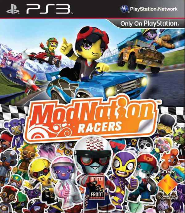 ModNation Racers Video Game Back Title by WonderClub