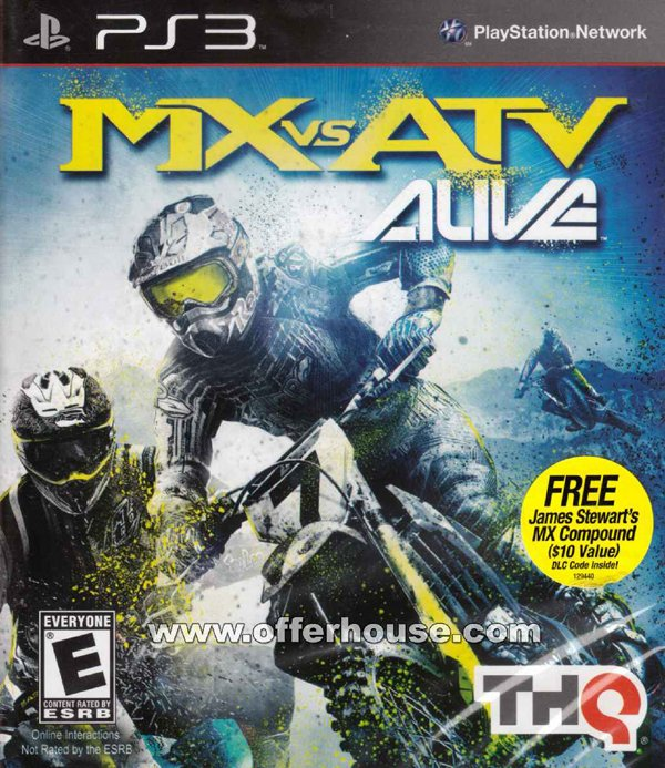 MX Vs. ATV Alive Video Game Back Title by WonderClub