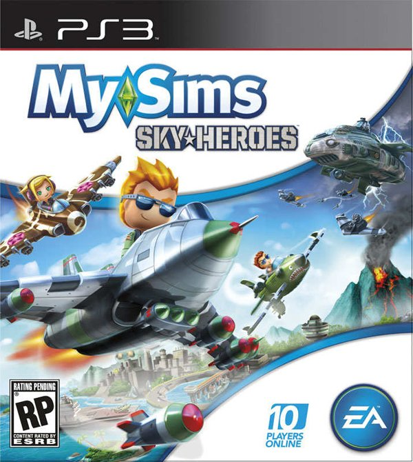 MySims SkyHeroes Video Game Back Title by WonderClub