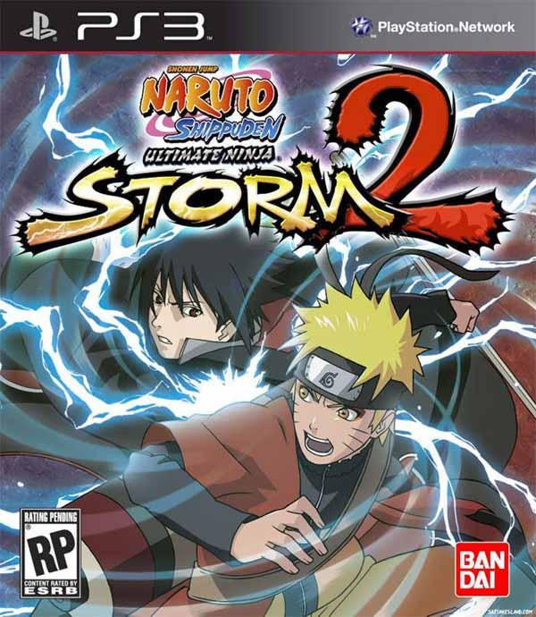 Naruto Shippuden: Ultimate Ninja Storm 2 Video Game Back Title by WonderClub