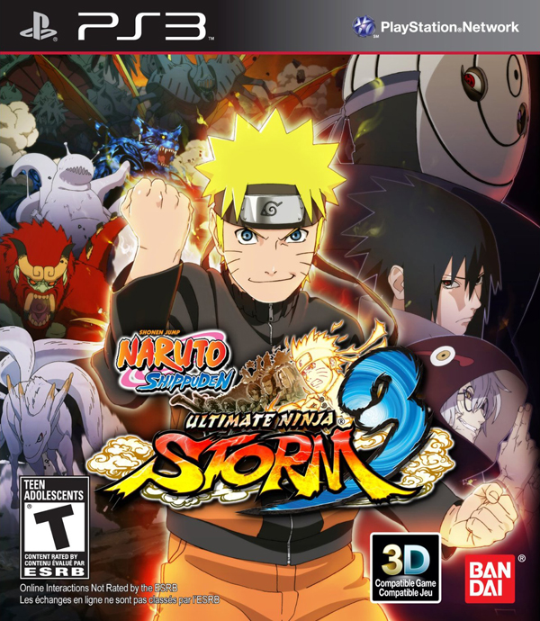 Naruto Shippuden: Ultimate Ninja Storm 3 Video Game Back Title by WonderClub